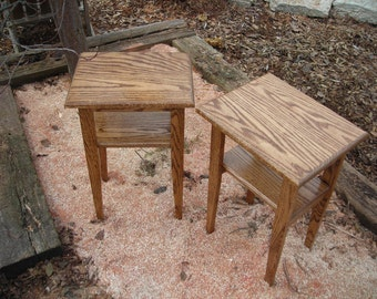 Handcrafted, Solid Wood, Side Tables