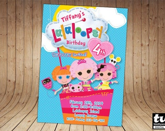 Lalaloopsy Birthday Invitation