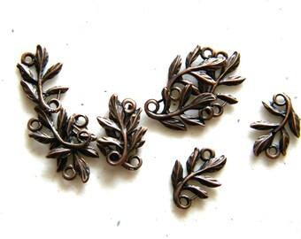 6 Copper Leaf Connectors