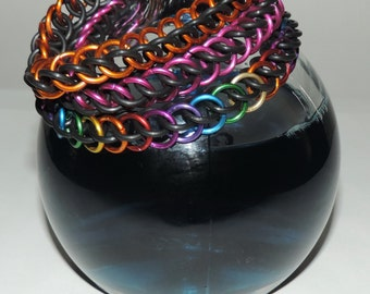 Custom Color Stretchy Half Persian Chainmaille Bracelet