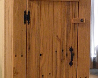 handmade custom rustic cabinet