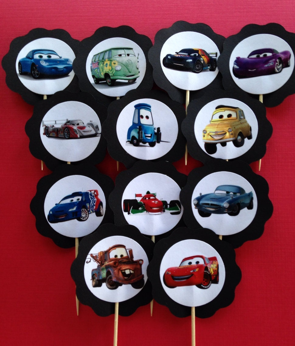 Disney CARS Cupcake Toppers By PartyXtras On Etsy