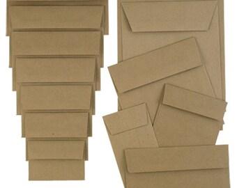 Brown Kraft Envelopes - Packs of 25
