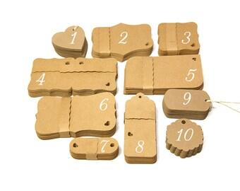 100 Custom tags front and back printing / custom gift tags / custom hang tags / custom labels / bracket tags brown kraft cardstock
