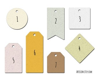 Custom kraft tags - Custom printed tags - Set of 100