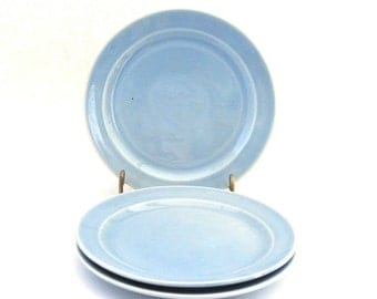 Luray Bread Plates x 3 - Windsor Blue