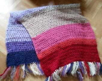Crocheted Rainbowshawl