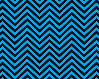 Cyan and black chevron craft  vinyl sheet - HTV or Adhesive Vinyl -  zig zag pattern   HTV76