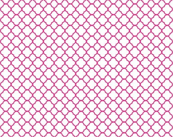Magenta quarterfoil craft  vinyl sheet hot pink dark pink magenta pink with white clover quatrefoil pattern vinyl HTV540