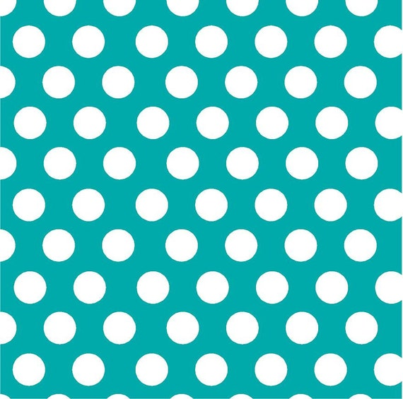 Teal With White Polka Dots Heat Transfer Or Adhesive Vinyl