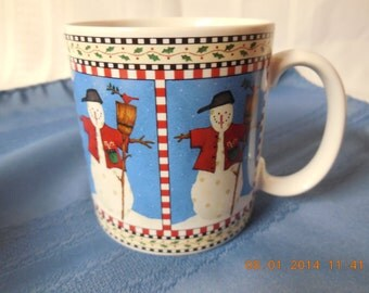 Snowman cup by Debbie Mumm, Sakura.