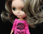 Grey Ash blonde Highlighted wig for Blythe and American Girl Dolls