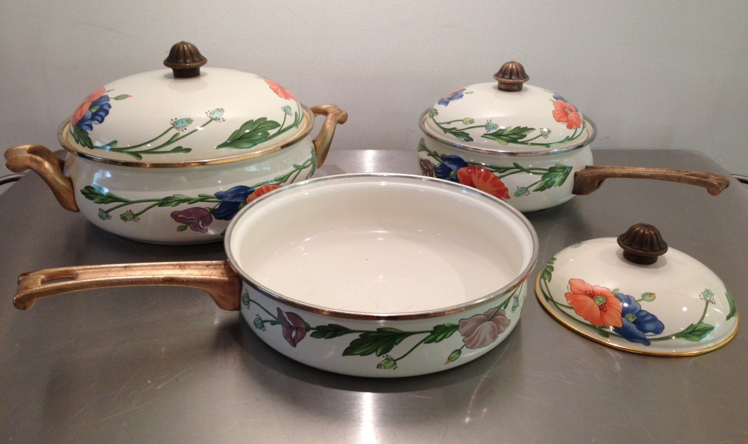Vintage villeroy and boch amapola cookware set made in germany - Villeroy and bosh ...