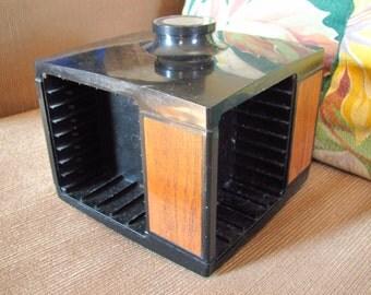 Vintage 1960s Dynasound Stow-A-Way Cassette Storage Module Cube [K]