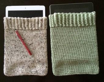 Crochet ipad cover, tablet cover, ipad cozy, tablet cozy (solid color)