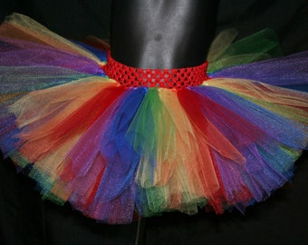 Rainbow Tutu, Children's Tutu, Tutu, Rainbow Tutu, Colorful Tutu Newborn to 6T Tutus, Rainbow tutu Skirt