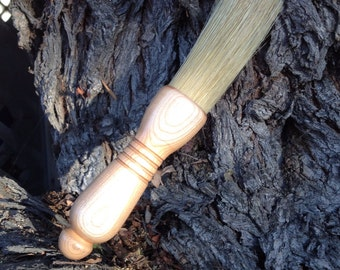 Hand turned cherry wood brush