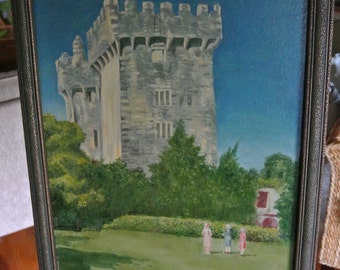 Circa 1931 Signed Oil Painting of Blarney Castle