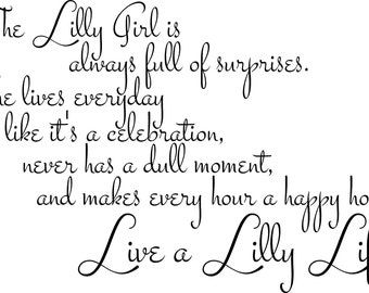 "Lilly Pulitzer ""Lilly Life"" Wall Quote"