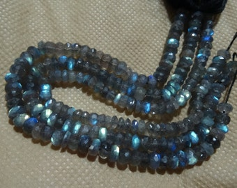 5 to 6 mm Super Flash Labradorite Micro Faceted Rondelle Full 13 inch strand-AAA Quality-Best price