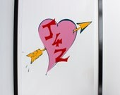 Personalised Heart with arrow Artwork
