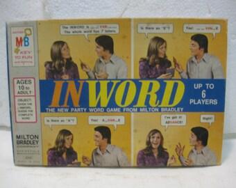 1972 Milton Bradley INWORD Game Board Game gm476