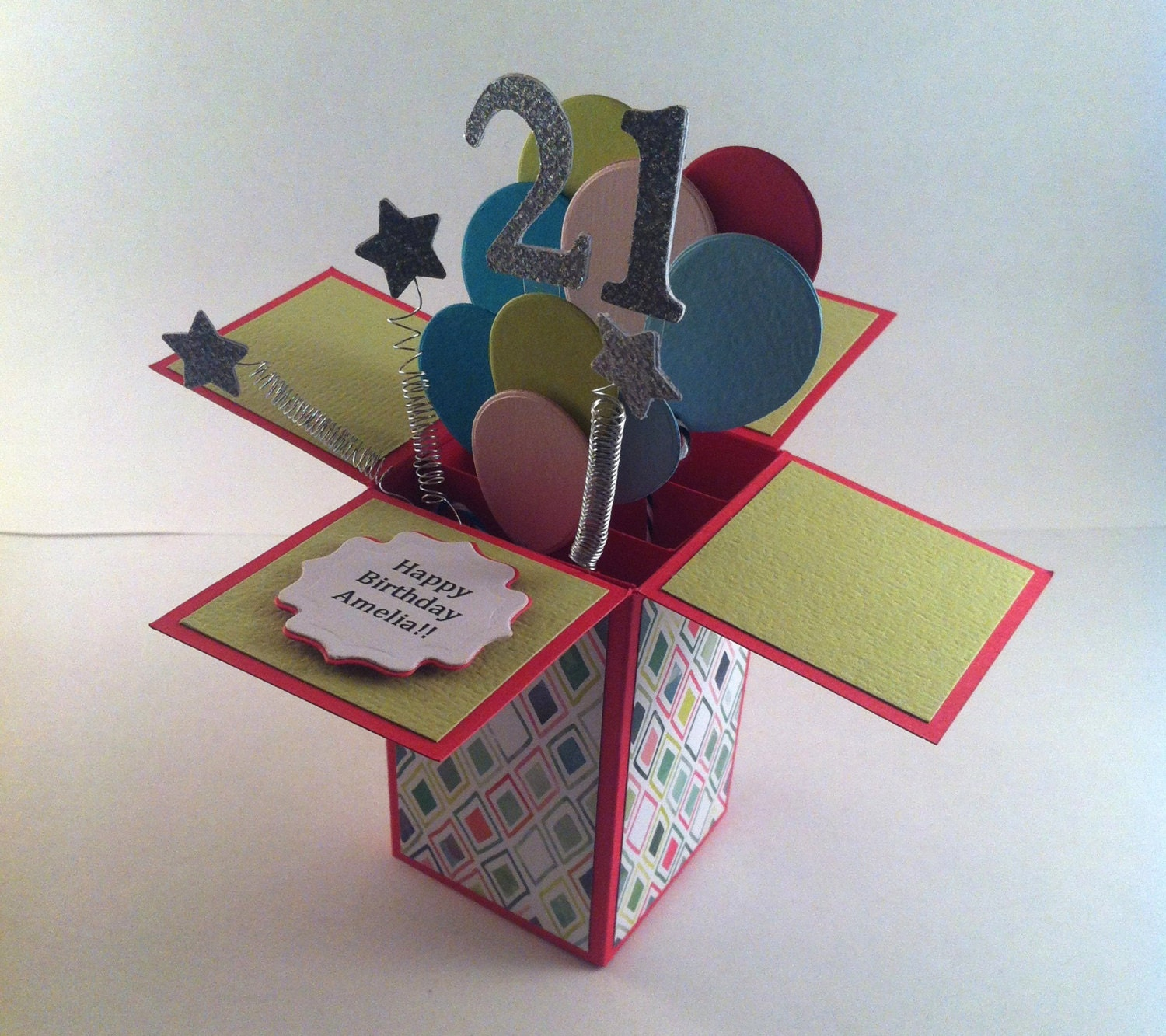 happy birthday pop up card customizable card in a box 3d