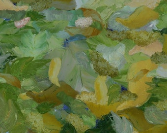 Four Seasons - Spring (abstract canvas print)