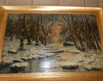 ORIGINAL PAINTING by J. L. Lokline 1924