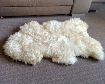 auskin premium sheepskin rug ivory single pelt