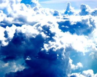 Clouds and Sky Artowrk, Sky Clouds Wall Decals, Nature Scenery Wall Art, Wall Decals for Home Decor, Blue Sky Wall Decal, White Clouds Decal