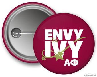 Alpha Phi Envy The Ivy Sorority Greek Button