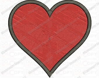 Heart Outline Valentine Embroidery Design in 1x1 2x2 3x3 4x4 and 5x7 Sizes