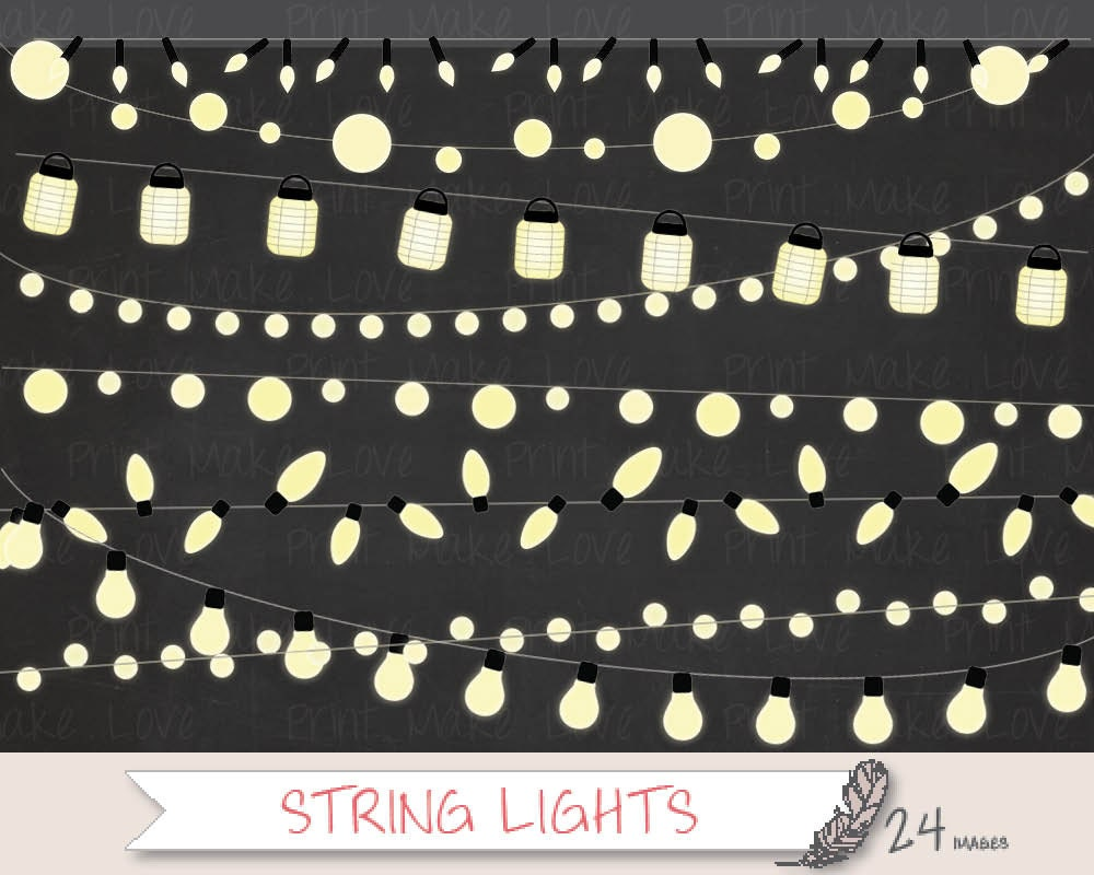String Lights Clipart Fairy Lights Clipart Christmas Lights