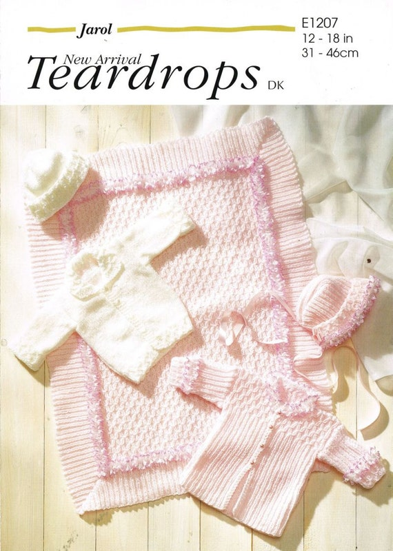 Jarol Knitting Patterns : Jarol 1207 baby matinee coat set nad pram blanket by Ellisadine