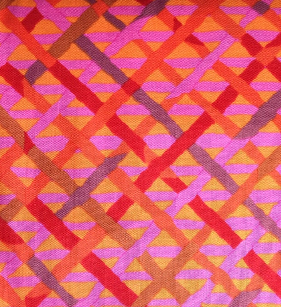 MAD PLAID Red Hot BM37  Brandon Mably Kaffe Fassett Collective sold in 1/2 yard increments