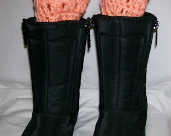 Boot Cuffs, Crochet, Handmade, Winter Fashion Cuff, Gift