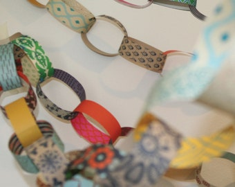 Paper Chain Kit - party decorations, recycled, holiday