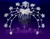 Exquisite Butterfly Crystal Rhinestone Tiara Comb (472)