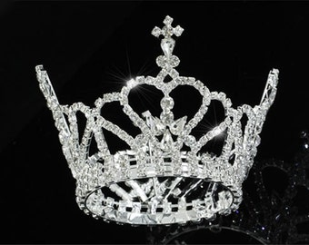 Exquisite Rhinestones Crystal Photo Prop Newborn Baby Tiara Crown (469)