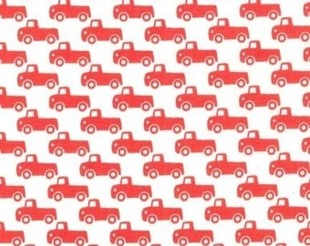Paprika Tiny Trucks, It's a Boy Thing, from Michael Miller Fabrics