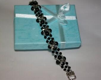 Swarovski Pearl and Bicone Bracelet.