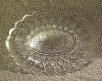 Vintage Cut Glass Platter