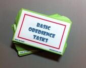 Basic Obedience Task Card Pack with Grab Bag Train 'Em Tasks - Pack of 53 cards - Family Dog, dog training, dog obedience