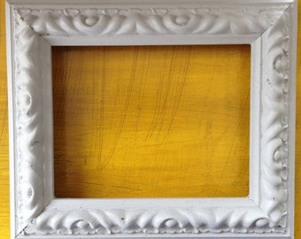 Hand Painted Grey 4x6 Picture Frame
