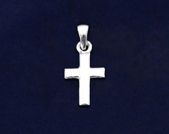 Small Silver Cross Charm (RE-CHARM-RN6)