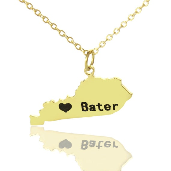 personalized gold state shaped with by