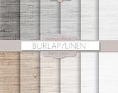 Linen digital paper: LINEN with black, white, gray linen backgrounds, digital paper linen, digital pattern, digital linen