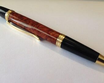 Qualitypens Amboyna burl Manhattan pen
