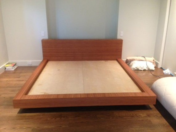 Items similar to king size bamboo bed frame and bench on etsy King size bed bench